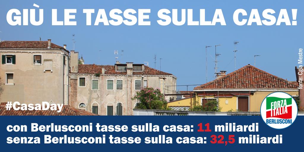 Forza italia giu 39 le tasse sulla casa for Tasse sulla casa