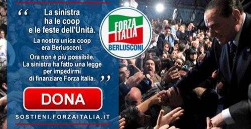 La nuova legge sui finanziamenti ai partiti mi impedisce di continuare a finanziare Forza Italia. Per la prima volta, ho bisogno del tuo aiuto. Diventa Azionista della libertà