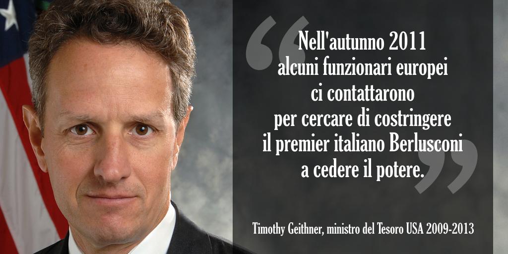 Nell'autunno del 2011 alcuni funzionari europei ci contattarono per cercare di costringere il premier italiano Berlusconi a cedere il potere